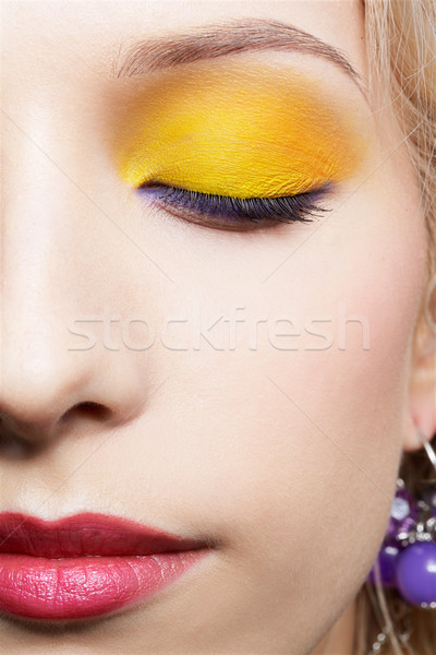 Filles maquillage portrait belle femme Photo stock © zastavkin