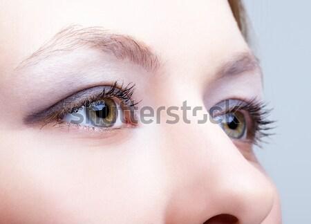 Сток-фото: выстрел · глазах · женщину · глаза · вечер