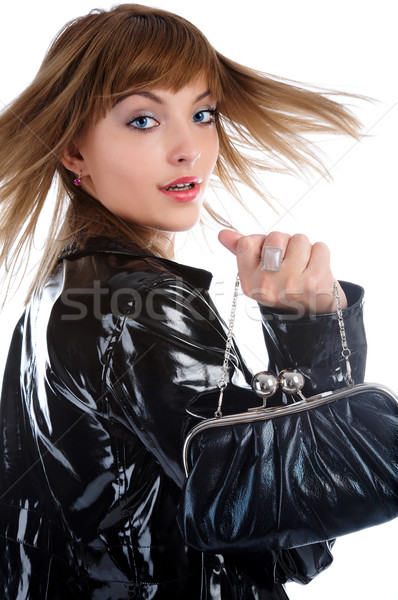 Girl with bag Stock photo © zastavkin