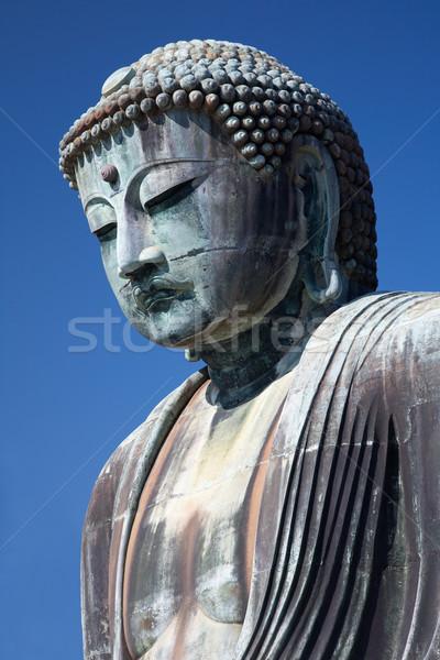 Groot buddha standbeeld beroemd bronzen tempel Stockfoto © zastavkin