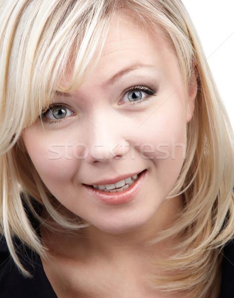 cheerful blonde girl Stock photo © zastavkin