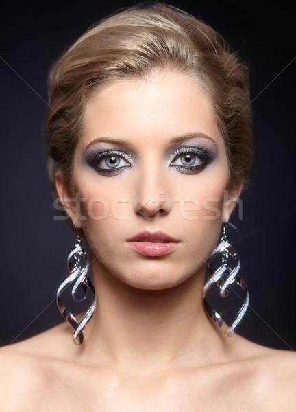 ストックフォト: 女性の顔 · 化粧 · 美しい · 若い女性