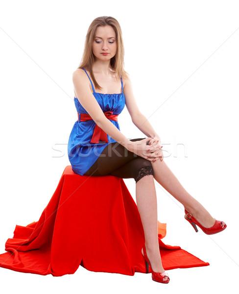 Seating girl Stock photo © zastavkin