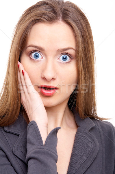 Retrato feminino branco olhos Foto stock © zastavkin
