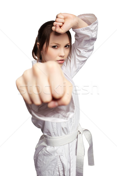 Stock photo: karate girl