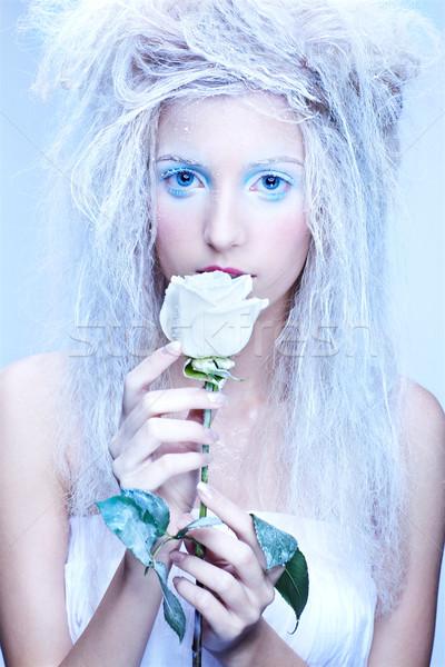 ストックフォト: 凍結 · 妖精 · クローズアップ · 肖像 · 美しい · ブロンド