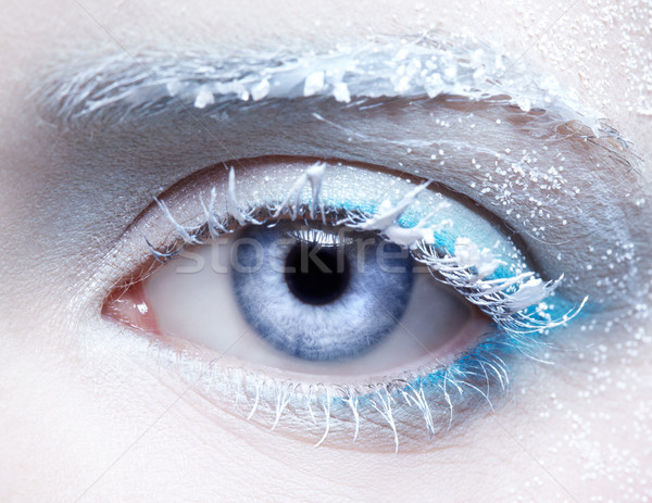 frozen eye zone makeup Stock photo © zastavkin
