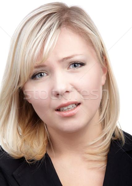 worried blonde girl Stock photo © zastavkin