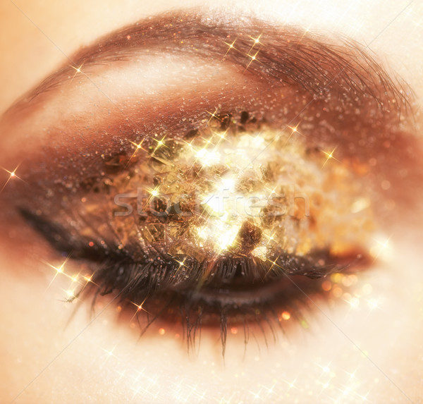 Shining eye makeup Stock photo © zastavkin