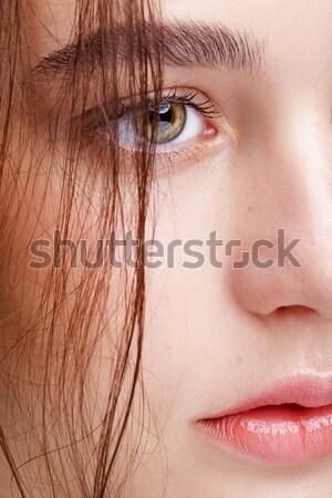 красивой меланхолический блондинка портрет европейский Сток-фото © zastavkin