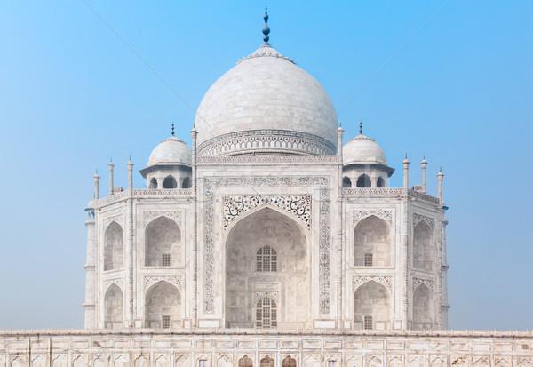 Taj Mahal India kék ég elöl kilátás égbolt Stock fotó © zastavkin