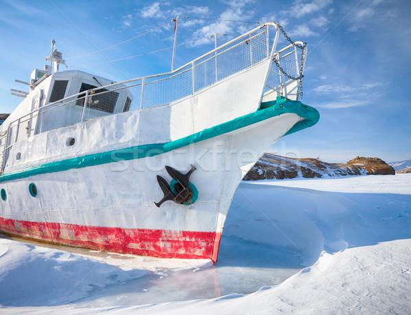 Ship in frozen baikal Stock photo © zastavkin