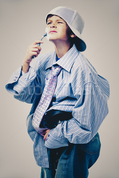 Drôle garçon vêtements Photo stock © zdenkam