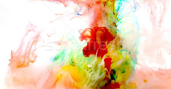 красочный жидкость искусства краской воды аннотация Сток-фото © zdenkam