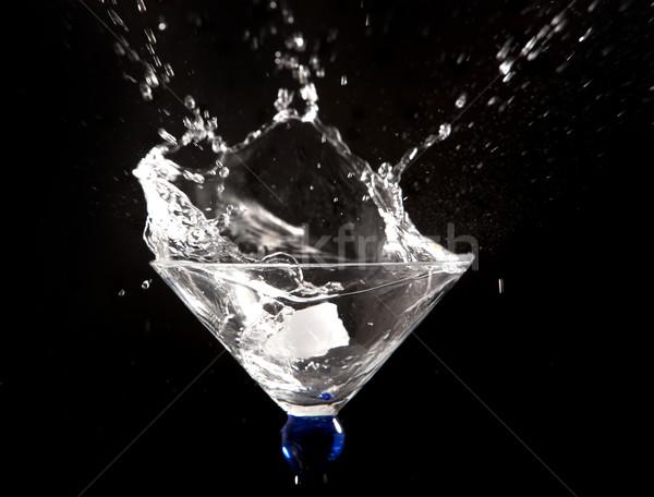 Noir eau résumé fond boire Photo stock © zdenkam