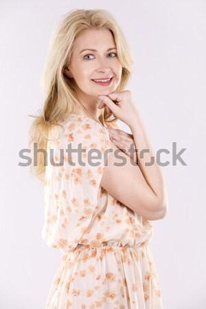 pretty caucasian woman Stock photo © zdenkam