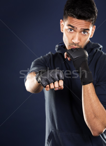 фитнес азиатских человека темно синий молодые Сток-фото © zdenkam