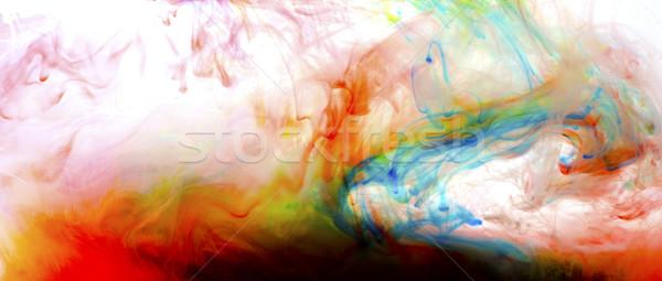 Kolorowy płynnych sztuki farby wody streszczenie Zdjęcia stock © zdenkam