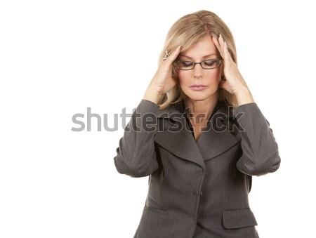 Сток-фото: деловой · женщины · головная · боль · красивая · женщина · бизнеса · женщину