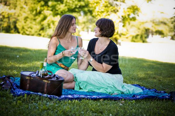 Mère fille ensemble parc amour Photo stock © zdenkam