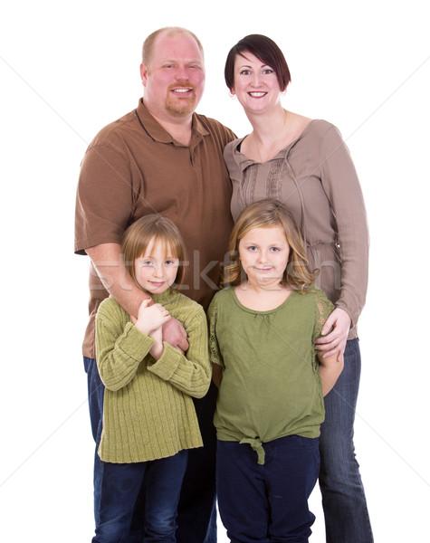 casual family of four Stock photo © zdenkam