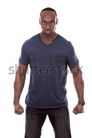 angry black man  Stock photo © zdenkam