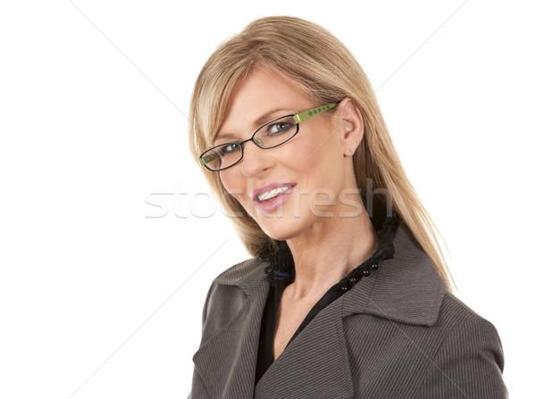 зрелый деловой женщины красивой бизнеса Сток-фото © zdenkam