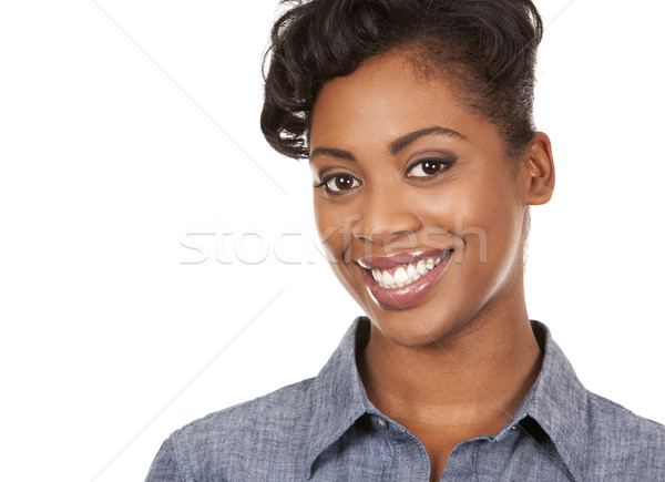 Lezser nő csinos sötét visel boldog Stock fotó © zdenkam