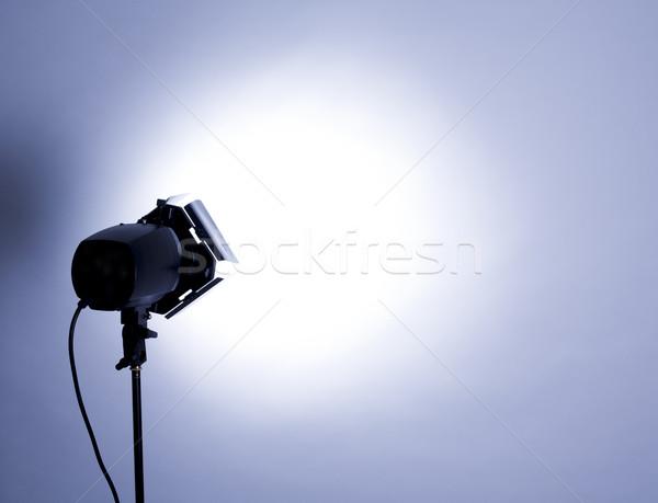 Studio lumière vide flash bleu clair technologie Photo stock © zdenkam