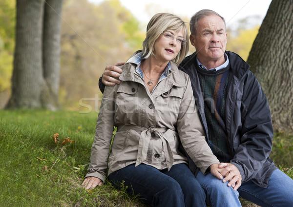 Stock photo: mature couple outdoors