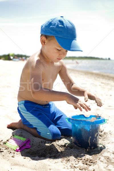 toddler on the beach Stock photo © zdenkam