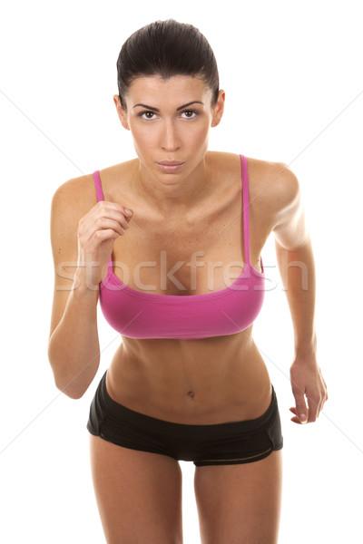 woman running Stock photo © zdenkam