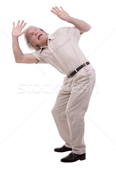 Casuale uomo bianco senior posa Foto d'archivio © zdenkam