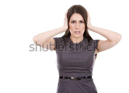 üzletasszony nem figyel fiatal kaukázusi nő visel Stock fotó © zdenkam