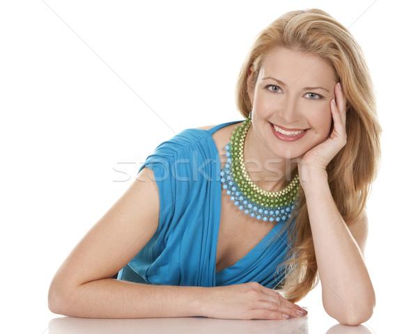 Mulher loira loiro mulher 40 anos Foto stock © zdenkam