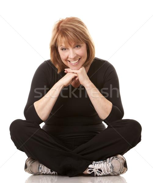 フィットネス 成熟した女性 着用 黒 トレーニング 女性 ストックフォト © zdenkam