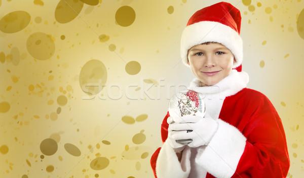 любопытный Рождества мальчика кавказский Дед Мороз Сток-фото © zdenkam