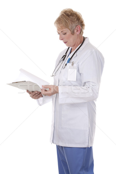 Stock photo: doctor holding notes