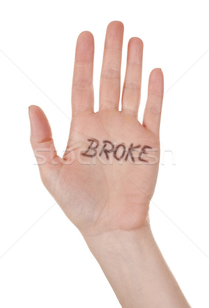 hand with broke message Stock photo © zdenkam