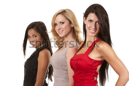 group of classy women Stock photo © zdenkam