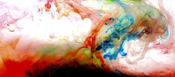 Stok fotoğraf: Renkli · sıvı · sanat · boya · su · soyut