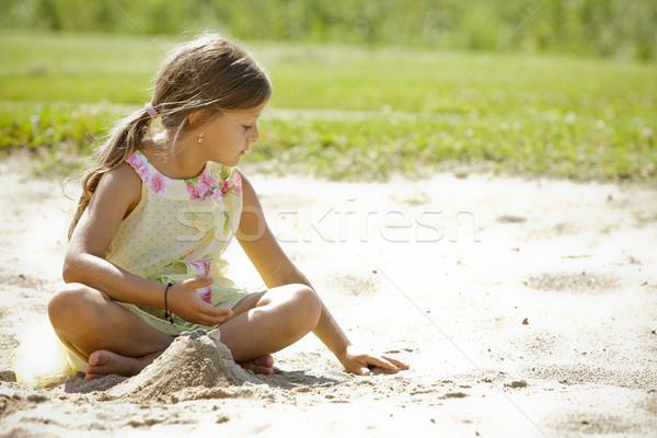 girl having fun Stock photo © zdenkam