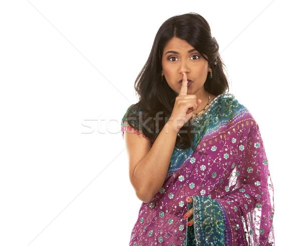 Indio mujer mujer bonita fondo belleza signo Foto stock © zdenkam