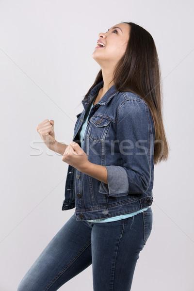 счастливым подростков случайный подростка девушка позируют свет Сток-фото © zdenkam