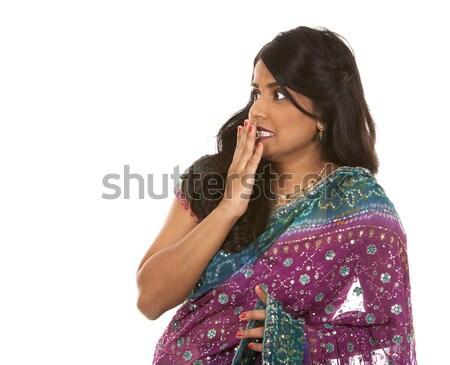 Indian donna pretty woman mano sfondo bellezza Foto d'archivio © zdenkam