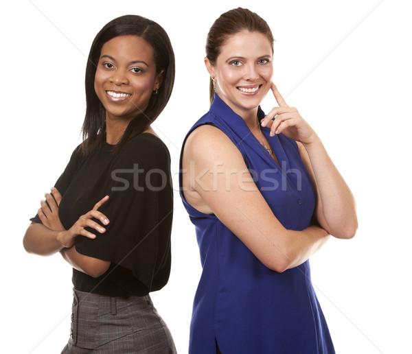 Kettő üzlet nők két nő visel iroda Stock fotó © zdenkam