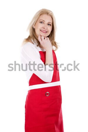 female cook in apron Stock photo © zdenkam