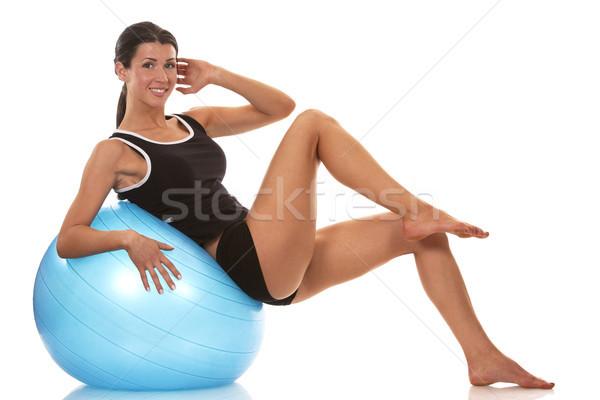 брюшной осуществлять женщины фитнес модель Сток-фото © zdenkam