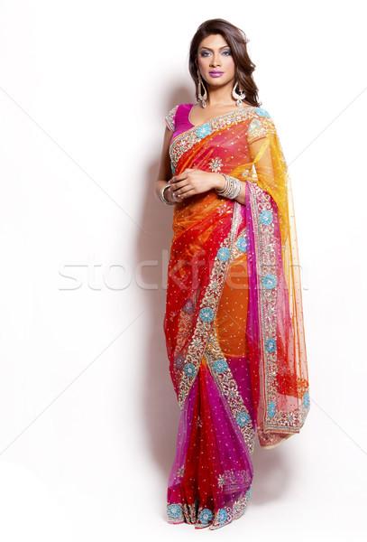Indian vrouw mooie vrouw traditioneel meisje Stockfoto © zdenkam