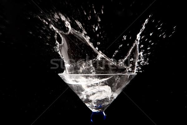 Preto água abstrato fundo arte Foto stock © zdenkam